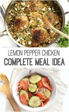 Lemon Pepper Chicken Meal - BudgetBytes.com $8.39 total / $2.10 serving
