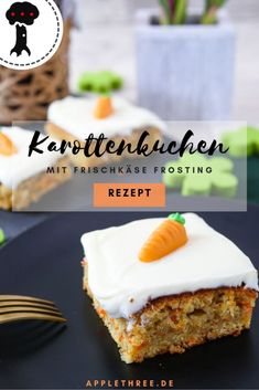 Carrot Cake Recipe with Cream Cheese - A . - Carrot Cake with Cream Cheese Frosting – Applethree Cake Recipes Without Oven, Cake Recipes From Scratch, Easy Cake Recipes, Frosting Recipes, Easy Desserts, Baking Recipes, Dessert Recipes, Carrot Cake Frosting, Carrot Recipes