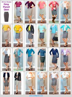 Outfit Posts: 2013 - outfit posts: grey pencil skirt