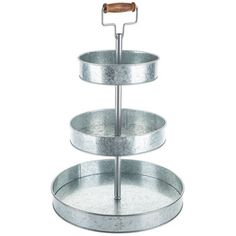 "Hobby Lobby ""Three-Tier Galvanized Metal Tray Stand"" alternative to other three stand in case"