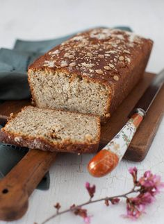Gluten free bread with seeds and no sugar. Uses Brown rice flour, quinoa flour, almond flour and potato starch