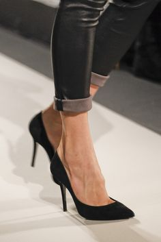 stilettos - all you need is a perfect pair of black stilettos.