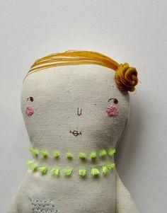 Puppen - Greta - ein Designerstück von pinselblues bei DaWanda