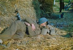 A sequel to this post (from almost two years ago now-- where does time go?). I always find photographs of soldiers asleep very touching. Th...