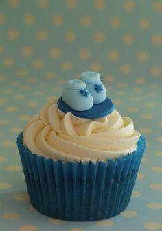 New Baby Boy cupcakes by madebymariegreen, via Flickr.