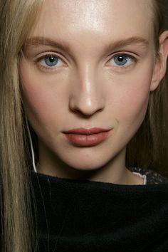 Donna Karan at New York Fall 2015. http://votetrends.com/polls/369/share #makeup #beauty #runway #backstage #makeup #2015 #fall #trends