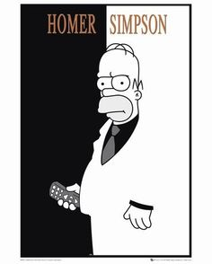 The Simpsons : Homer Scarface - Maxi Poster x new and sealed Homer Simpson, The Simpsons, Scarface Poster, Wallpapers En Hd, Poster Online, Cartoon Sketches, American Dad, New Poster, Futurama