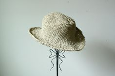 handmade hemp straw hat one size large by WhatsOliviaWearing, $55.00