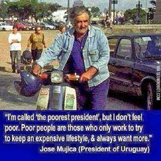 Well said Mr. Mujica