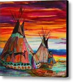 Summer On The Plains Canvas Print / Canvas Art By Anderson R Moore