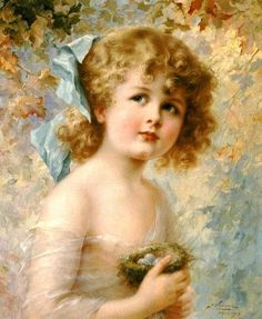 Emile Vernon Girl Holding a Nest painting for sale, this painting is available as handmade reproduction. Shop for Emile Vernon Girl Holding a Nest painting and frame at a discount of off. Vernon, Oil Painting Flowers, Oil Painting On Canvas, Painting Abstract, Oil Painting For Beginners, Painting Techniques, Victorian Paintings, Arte Popular, Oil Painting Reproductions