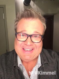Backstage at #Kimmel NEW show tonight with @EricStonestreet in Seraphin Edgewood - Blue Fusion  #ModernFamily