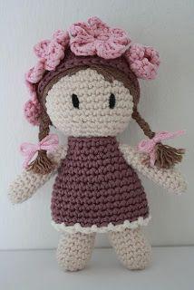 Larkspur crochet amigurumi doll