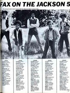 Michael Jackson and his brothers :) | Curiosities and Facts about Michael Jackson ღ by ⊰@carlamartinsmj⊱