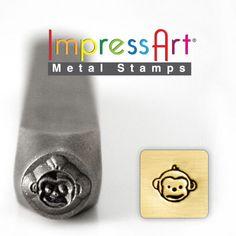 MONKEY FACE METaL STaMP 6mm 1/4 Steel Punch by NaftaliSupply, $8.00