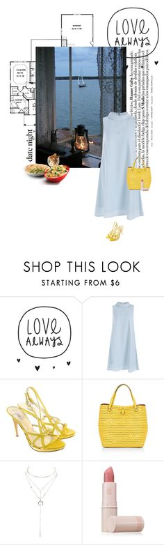"""love always"" by mimas-style ❤ liked on Polyvore featuring Versace, Karen Millen, Charlotte Russe and Lipstick Queen"