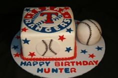 Baseball Texas Rangers birthday cake By prillie on CakeCentral.com