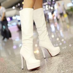 women fashion shoes 2014 riding boot high heeled boots PU knight shoes thigh high boots for plus size women