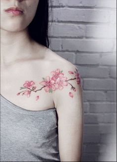 94 Cherry Blossom Tattoo Designs That Will Reveal Your Elegant and Unique Style Dream Tattoos, Rose Tattoos, Flower Tattoos, Body Art Tattoos, New Tattoos, Pretty Tattoos, Beautiful Tattoos, Design Tattoo, Tattoo Designs