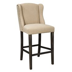 Signature Design by Ashley Moriann 30-inch Upholstered Winged Barstool (Set of 2)