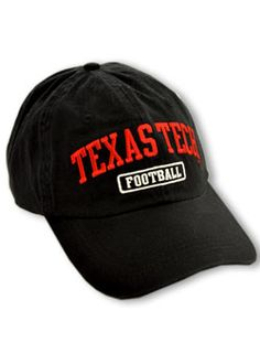 3393abcaba2  17.99 CP Black Texas Tech Football Hat