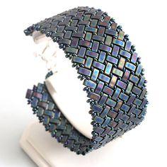 Miyuki half tila and TOHO demi round beds bracelet  http://www.sashe.sk/kacenkag/detail/elegant-night-matny-iris