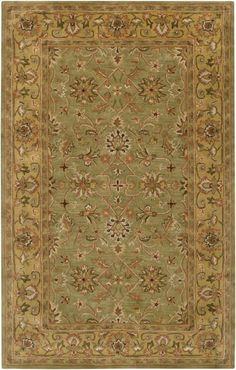 Surya CRN6001-1215 Crowne 12' x 15' Rectangle Wool Hand Tufted Traditional Area Brown Rugs Area Rugs