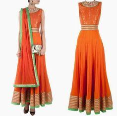 SVA Sonam Paras Modi Anarkali Frocks Suits 2014 6 SVA Sonam & Paras Modi Anarkali Frocks Suits 2014 For Girls