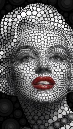 y Marilyn Monroe Pop Art . Marilyn Monroe Wallpaper, Marilyn Monroe Pop Art, Bob Marley Art, Pop Art Images, Motion Images, Inspiration Art, Tattoo Videos, Skull Artwork, Dot Art Painting