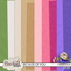 Because of You Cardstock Pack