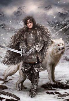 Jon Snow ve Ghost - #ghost #Jon #Snow #ve
