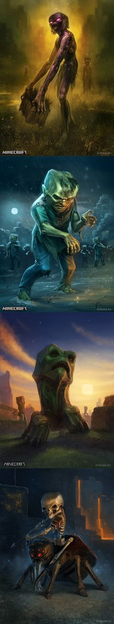 If Minecraft is a realistic horror game... omg!