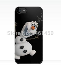 cute frozen OLAF black cover case for iPhone 4s 5s 5c 6 Plus iPod touch 4 5 th Samsung Galaxy s2 s3 s4 s5 mini note 2 3 4 cases