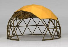 Dome shaped pergola with medium cover. Yurt Home, Dome Greenhouse, Public Architecture, Kids Outdoor Play, Dome Tent, Dome House, Geodesic Dome, Cabana, Pergola