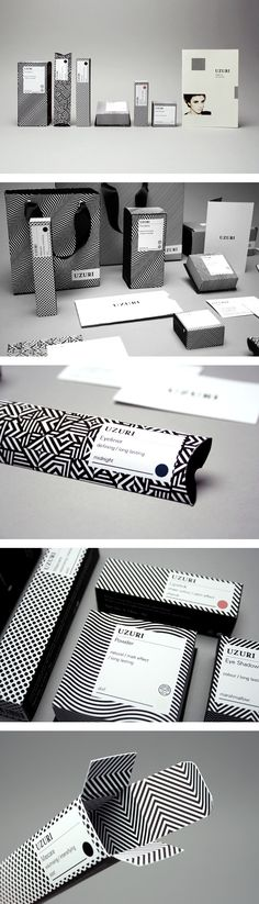 Packaging design Inspiration Brochures, Designing with black and white 50 striking examples for your inspiration Packaging Corporate Design, Brand Identity Design, Corporate Identity, Visual Identity, Design Typography, Graphic Design Branding, Logo Design, Cosmetic Packaging, Brand Packaging