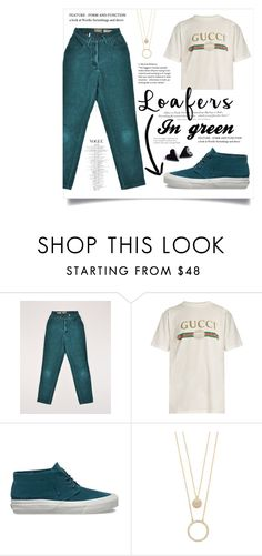 """""""Loafers in green"""" by stellacolor21 ❤ liked on Polyvore featuring H&M, Gucci, Vans and Kate Spade"""