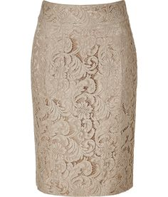 Burberry Nude Lace Skirt
