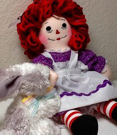 10 Raggedy Ann with Bunny  Ready to Ship  by TimelessTreasuresbyB