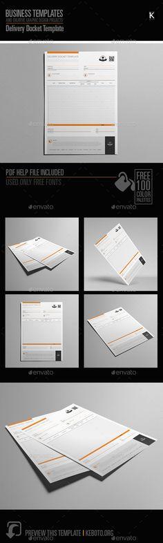 Delivery Docket US Letter Template - delivery docket