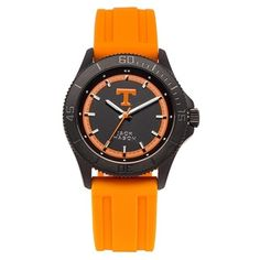 $89.95 Jack Mason Brand Tennessee Volunteers Black Out Silicone Strap Watch