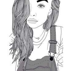 outlines tumblr | dibujos blanco y negro | Tumblr