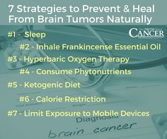 Your brain is your most important organ. Discover 7 ways to stop brain tumors from forming and/or aid in healing from brain cancer when you click on the image.