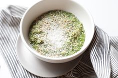 Matcha Oatmeal with Sesame and Coconut recipe | Cook oats, stir in matcha powder, sprinkle on toppings and enjoy!