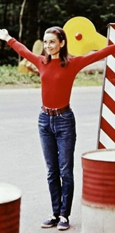 Rare Audrey Hepburn — Audrey Hepburn wearing jeansrequested...