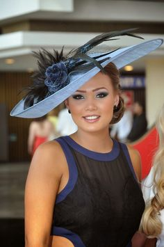 Hats Have It Races Style, Run For The Roses, Races Fashion, Couture Fashion, Baby Blue, Captain Hat, Racing, Crown, Hats