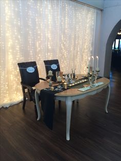 Sweetheart table on dance floor