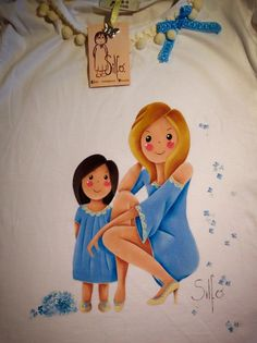 Mujeres camisetas Painting Words, Fabric Painting, Diy Painting, Painted Clothes, Cute Art, Art For Kids, Folk Art, Decoupage, Projects To Try