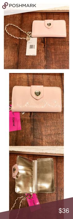 Pink Betsey Johnson Wallet Brand new and very cute clutch wallet. Big enough to fit all your essentials. Betsey Johnson Bags Clutches & Wristlets