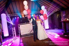 Trots bruidspaar na afloop van hun feestavond!