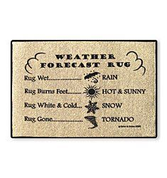Weather forecast rug, very accurate!